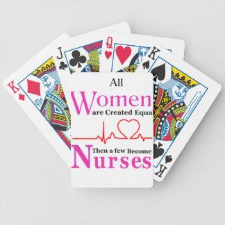 Alle Frauen sind geschaffenes Gleichgestelltes, Bicycle Spielkarten