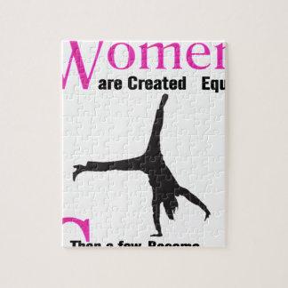 Alle Frauen sind geschaffenes Gleichgestelltes Puzzle