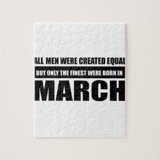 Alle Frauen waren geschaffene gleiche Märzentwürfe Puzzle
