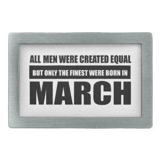 Alle Frauen waren geschaffene gleiche Märzentwürfe Rechteckige Gürtelschnallen