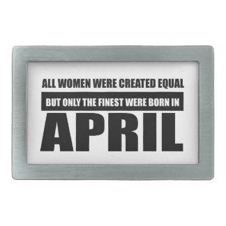 Alle Frauen waren geschaffene gleiche Rechteckige Gürtelschnalle