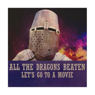 Alle geschlagenen Drachen ließen uns zu einem Film Holzwanddeko