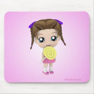 Alle gewinnen niedliche Chibi Mädchen-Süßigkeit Mousepad