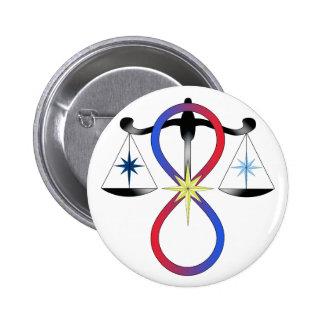 Alle Gott-universelle Power-Farbe - religiöses Sym Runder Button 5,1 Cm