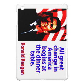 Alle große Änderung in Amerika - Ronald Reagan iPad Mini Hülle