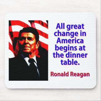 Alle große Änderung in Amerika - Ronald Reagan Mousepad