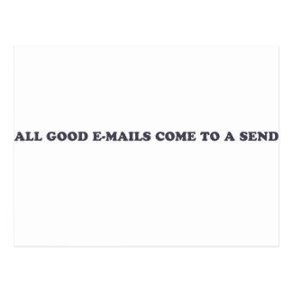 Alle guten E-Mail kommen zu senden Postkarte