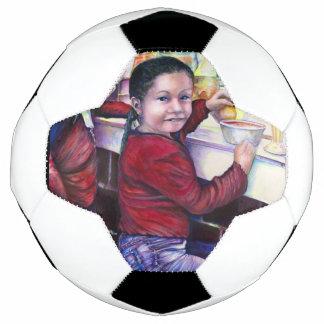 Alle guten Mädchen erhalten Eiscreme Fußball