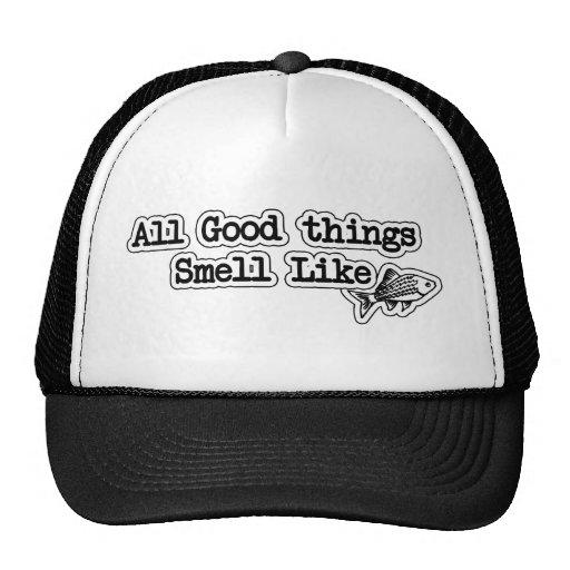 Alle guten Sachen riechen wie Fisch-lustiges Fisch Baseball Mütze