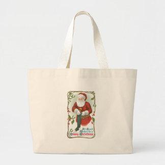 Alle guten Wünsche für ein glückliches Weihnachten Jumbo Stoffbeutel