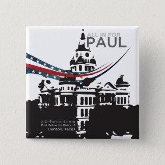 Alle herein für Paul - quadratischer Knopf Quadratischer Button 5,1 Cm