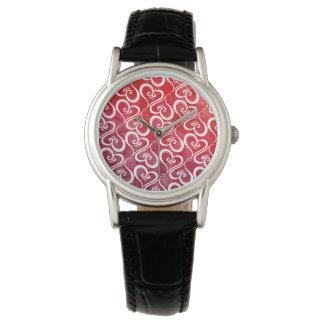 Alle Herz-Rückseite glühend Armbanduhr
