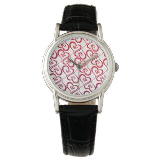 Alle Herzen glühend auf Weiß Armbanduhr