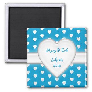 alle Herzen - Save the Date Quadratischer Magnet