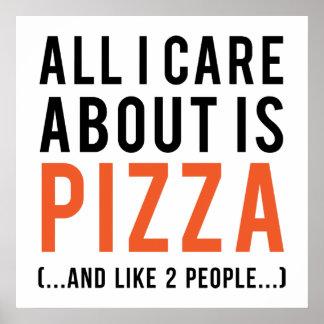 Alle i-Sorgfalt ist ungefähr Pizza (und wie 2 Poster