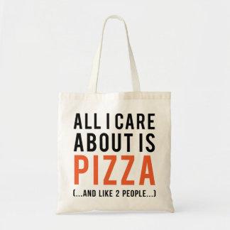 Alle i-Sorgfalt ist ungefähr Pizza (und wie 2 Tragetasche