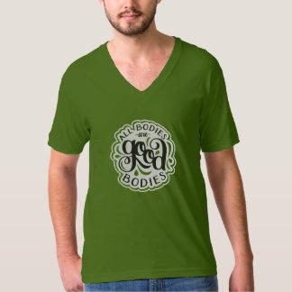 Alle Körper sind gute Körper olivgrüner T-Shirt