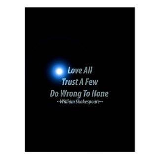 Alle Liebe, vertrauen einigen, schaden zu keinen. Postkarte