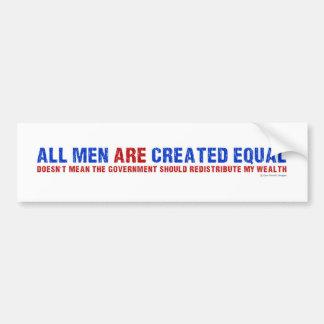 Alle Männer sind geschaffenes Gleichgestelltes Autoaufkleber