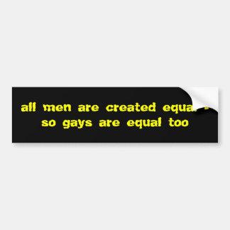 Alle Männer sind gleich Autoaufkleber