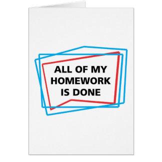 Alle meine Hausaufgaben ist erfolgt! Karte