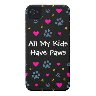 Alle meine Kind-Kinder haben Tatzen iPhone 4 Etuis