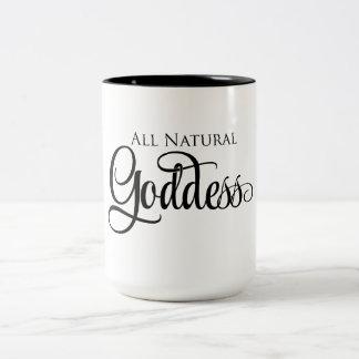 Alle natürliche Göttin Zweifarbige Tasse