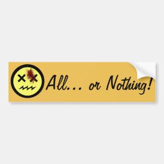 Alle… oder nichts! autoaufkleber
