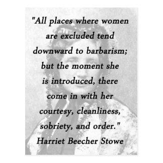 Alle Plätze - Harriet Beecher Stowe Postkarte