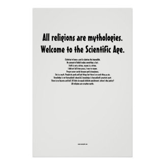 Alle Religionen sind Mythologien Poster