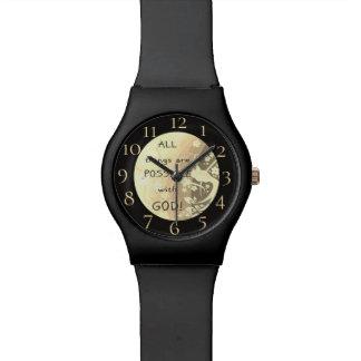 Alle Sachen sind mit Gott möglich Armbanduhr