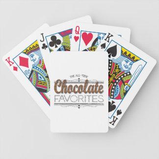 Alle Schokoladen-Lieblinge Bicycle Spielkarten