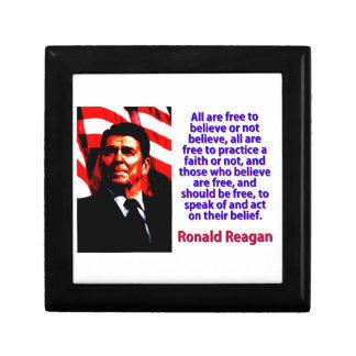 Alle sind frei, - Ronald Reagan zu glauben Erinnerungskiste
