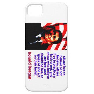 Alle sind frei, - Ronald Reagan zu glauben Hülle Fürs iPhone 5