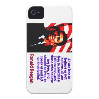 Alle sind frei, - Ronald Reagan zu glauben iPhone 4 Case-Mate Hülle