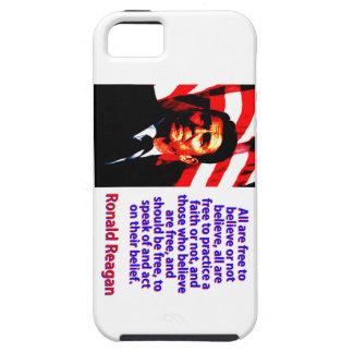 Alle sind frei, - Ronald Reagan zu glauben iPhone 5 Schutzhüllen