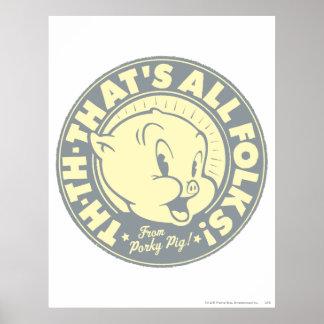 ALLE VÖLKER Porky TH-TH-THATS Posterdrucke