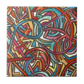 Alle Weg-Enden-Dort-Hand gemalte zeitgenössische Keramikfliese