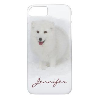 Alle weiße arktischer Fox-Aquarell-Malerei iPhone 8/7 Hülle