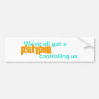 Alle wir haben ein platypus erhalten, das uns autoaufkleber