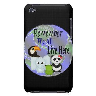 Alle wir leben hier Tiere der Welt iPod Touch Case