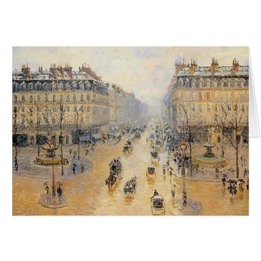 Allee de L'Opera, Schnee-Effekt Camilles Pissarro- Karte