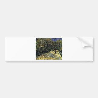 Allee mit Kastanienbäumen bei Arles - Van Gogh Autoaufkleber