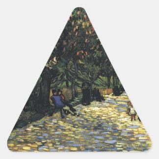 Allee mit Kastanienbäumen bei Arles - Van Gogh Dreieckiger Aufkleber