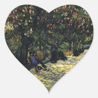Allee mit Kastanienbäumen bei Arles - Van Gogh Herz-Aufkleber