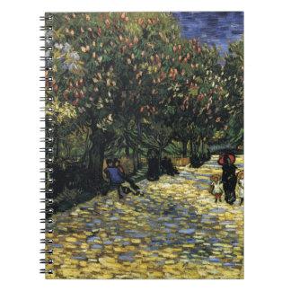 Allee mit Kastanienbäumen bei Arles - Van Gogh Notizblock
