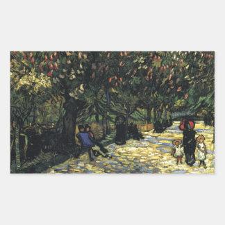 Allee mit Kastanienbäumen bei Arles - Van Gogh Rechteckiger Aufkleber
