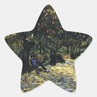 Allee mit Kastanienbäumen bei Arles - Van Gogh Stern-Aufkleber