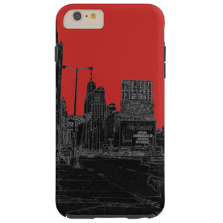 Alleensechziger jahre Chicagos Michigan glühendes Tough iPhone 6 Plus Hülle
