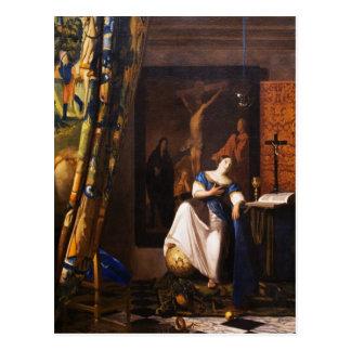 Allegorie auf Glauben durch Johannes Vermeer Postkarte
